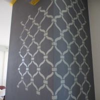 Stenciling a Textured Wall - Jenni Brown Writes